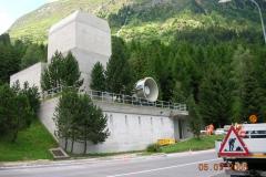 Autostrada N2, Galleria stradale del San Gottardo, Ampliamento centrale di ventilazione Airolo, 2005 © F&P