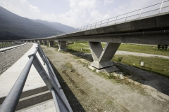 AlpTransit, Verkehrsknoten Camorino, Viadukt Lugano-Bellinzona, 2015 © CIPM-F. Banfi.