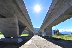 AlpTransit, Nodo di Camorino, viadotti Lugano-Bellinzona e Bellinzona-Lugano, 2013 © Alptransit
